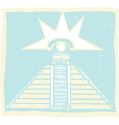 Mayan Pyramid with Venus Eye Glyph vector image vector image