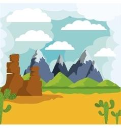 desert landscape isolated icon design vector image