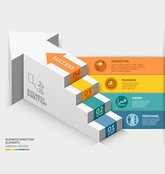 3d business staircase diagram template vector