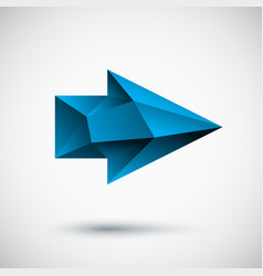 3d cyan right arrow with light background vector