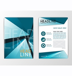 A4 Abstract background business brochure vector