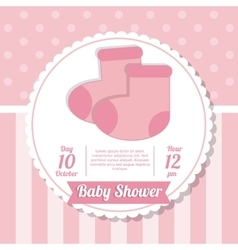 Baby Shower design sock icon graphic vector image