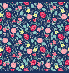 Beautiful botanical background with flowers and vector