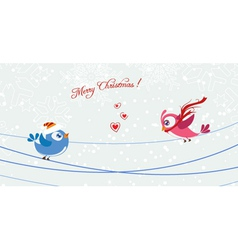 Birds with snowflakes vector