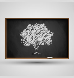 blackboard with a tree vector image