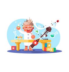 boy chemist vector image