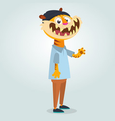 cartoon funny tiger vector image