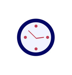 Clock icon simple time sign flat vector