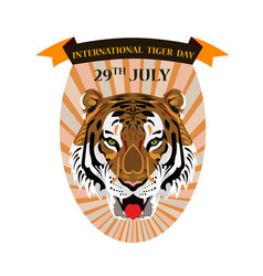 concept on an international tiger day featuring a vector image
