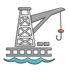 crane port icon cartoon style vector image