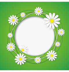 Creative abstract background with chamomile flower vector