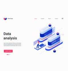 Data analysis digital tech platform concept vector