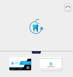dental icon logo template free business card vector image
