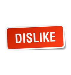 Dislike square sticker on white vector