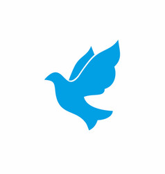 Dove - a symbol of the holy spirit vector