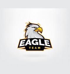 Eagle mascot character logo design vector