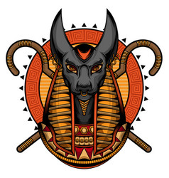 Egyptian god anubis logo vector
