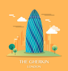 Famous london landmark the gherkin vector