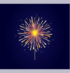 fireworks and celebration background vector image
