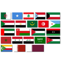 Flags of the arab league vector