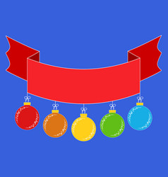 Flat colored insulated ribbon banner with vector