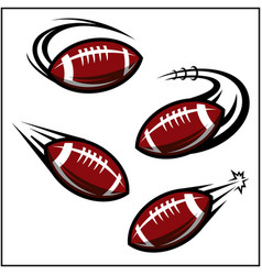 Football swoosh set 4 vector