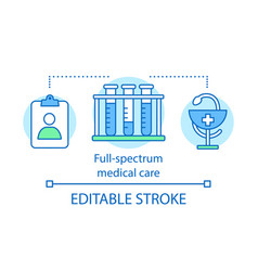 full spectrum medical care concept icon vector image