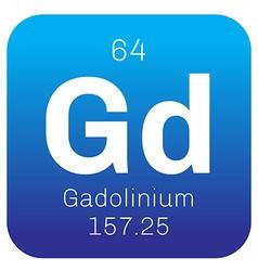 Gadolinium chemical element vector image