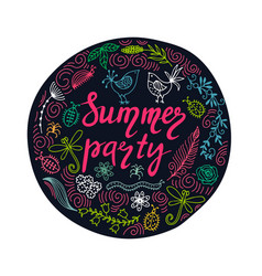 hand drawn summer themed phrases modern style vector image