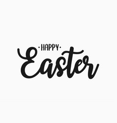 happy easter text banner easter lettering vector image