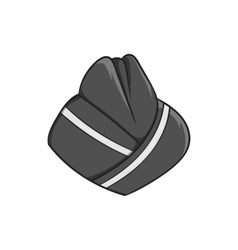 Hat stewardess icon black monochrome style vector