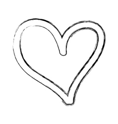 heart love drawing icon vector image
