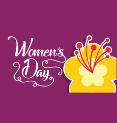 hibiscus flower decoration womens day card vector image