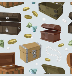 Hidden treasures set pattern vector