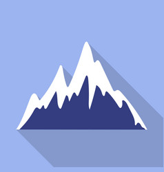 ice mountain peak icon flat style vector image