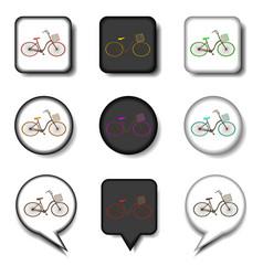 icon for set symbols retro bicycle vector image