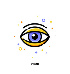 icon of human eye for business vision concept vector image