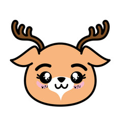 Isolated cute deer face vector
