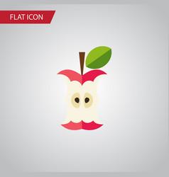 Isolated eaten flat icon bitten element vector