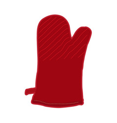 isolated kitchen glove vector image