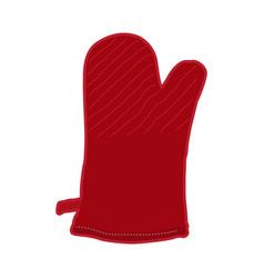 Isolated kitchen glove vector
