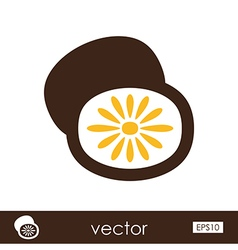 Kiwi outline icon Tropical fruit vector image