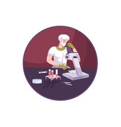 laboratory worker vector image