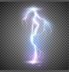 Lightning thunder storm realistic magic vector