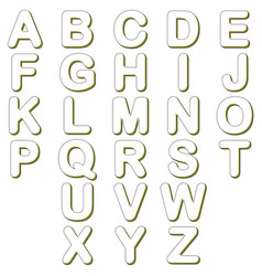 lines alphabet characters vector image