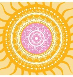 mandala sun pattern vector image