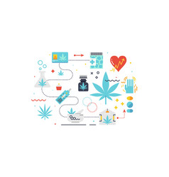 medical cannabis concept vector image