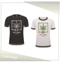 Medical marijuana tshirt seven vector