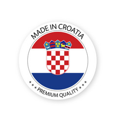 modern made in croatia label croatian sticker vector image