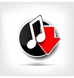 Music web icon vector